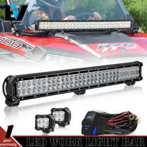 John Deere Ar60250 Led 2955 4430 4440 4455 30inch Light Bar Dual Row pods Kit