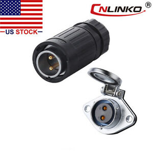 Cnlinko 2 Pin Power Connector Male Plug Female Socket Waterproof Outdoor Ip67