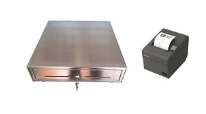 Square Register Pos Hardware Bundle Cash Drawer And Epson Receipt Printer