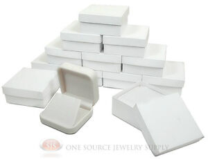 12 Piece White Leather Earring Jewelry Gift Box 2 3 4 X 2 3 4 X 1 1 8