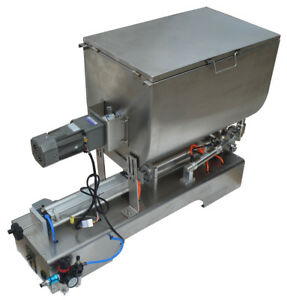110v Mixing Filling Machine 100 1000ml For Sauce Paste Cream Butter 70l Hopper