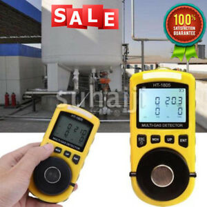Ht 1805 4 In1 Gas Analyzer Detector Portable O2 Co H2s Harmful Gas Tester Usa