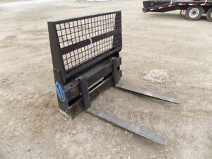 42 Skid Steer Loader Forks Ssl Quick Attach Came Off A Bobcat 963 Low Use