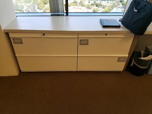 Knoll Calibre 2 drawer Lateral File File Cabinet White