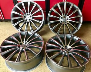 Mercedes E63 17 In Gunmetal Rims Wheels Set4 New Exclusive E350 Fitment E Amg