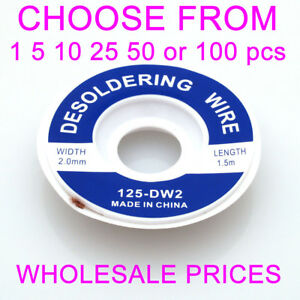 5ft 2 0mm Desoldering Copper Braid Solder Removal Flux Wick Cable Wire Lead