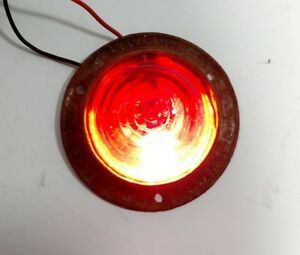 Vintage Do Ray 1240 Truck Cab Clearance Light Red Glass Maker Lamp Truck Trailer