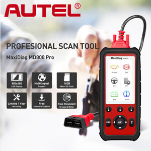 Autel Maxidiag Md808 Pro All System Obd2 Code Scanner Epb Oil Reset Dpf Abs Sas