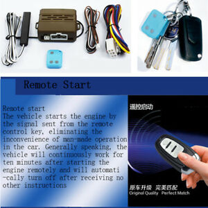 Car Alarm System Induction Remote Control Start Push Button Keyless Entry Remote