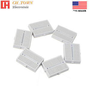 6pcs White Breadboard Syb 170 Tie points Solderless Prototype Pcb Circuit Board