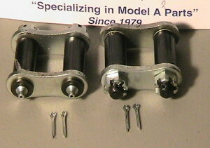 1928 1931 Model A Ford Complete Front Spring Shackle Ser One 1 Pair