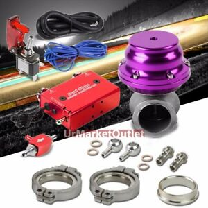 Red Electronic Turbo Charger Boost Control purple External Wastegate