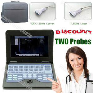 Digital Ultrasound Scanner Laptop Machine With Convex linear 2 Probes usa Seller