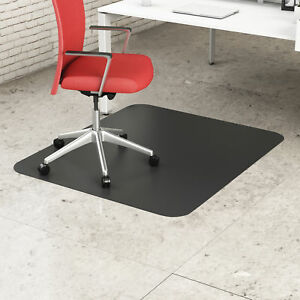 Office Mat 36 X 48 Chair Hard Floor Carpet Rectangular Black Home Desk Protector