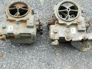 Chevrolet Pontiac Cadillac Oldsmobile Tripower Carburetors 1957 58