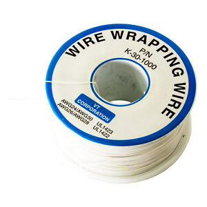 Wire Wrap Solid Kyar Wire 30 Gauge white 1000ft