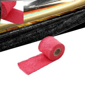 Red 2 X 1 16x 5ft 60 T1 Exhaust Header Turbo Manifold Down Piping Heat Wrap