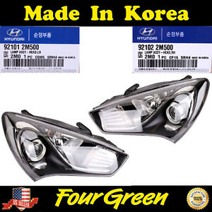 New Oem Halogen Head Light Lamp Lh Rh Set For Hyundai Genesis Coupe 2013 2014