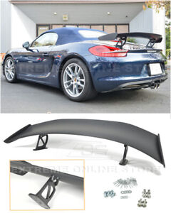 For 13 16 Porsche 981 Boxster Gt4 Style Primer Black Rear Trunk Wing Spoiler Lip