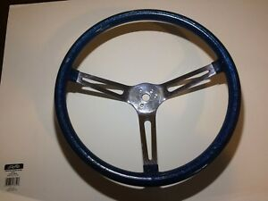 15 1 2 Blue Metalflake Steering Wheel Rat Rod Hot Rod Custom Vtg Gasser