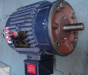 Abb Inverter Duty Induction Motor 182thts65581an With Bei Encoder 10000 Cts rev