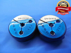 1 4 28 Nf 2 Thread Ring Gages 25 Go No Go P d s 2268 2237 Free Shipping