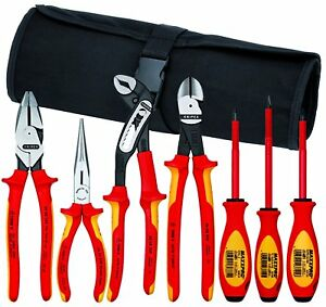 Knipex 989826us 7 Piece Insulated Tool Set With Pouch 1000v