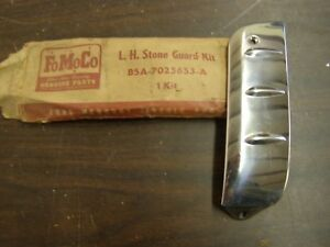 Nos Oem Ford 1955 Fairlane Stainless Stone Guard Trim