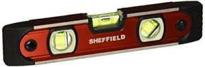 New Sheffield 58640 9 Inch Magnetic V Groove Torpedo Level Free Shipping