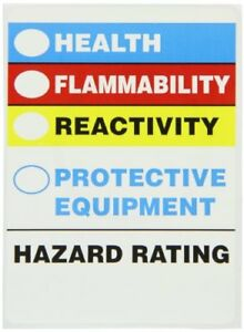 New Brady 596 35 Prinzing Hazard Id Hazard Rating 25 Each Free Shipping