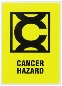 New Brady 596 26 Prinzing Hazard Id Cancer Hazard W Picto 25 Each Free Shipping