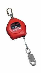 Miller Falcon 30 foot Galvanized Cable Self retracting Lifeline With Tagline