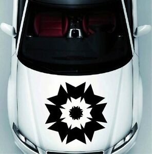 Abstract Ornament Flower Vinyl Decal Car Hood Sticker Vehicle Auto Decor 1026