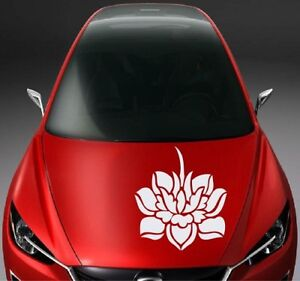 Lotus Flower Nature Vinyl Decal Car Hood Sticker Any Vehicle Auto Decor 1027