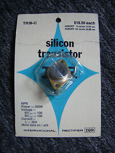 Vintage New Silicon Transistor tr36 c Made By International Rectifier