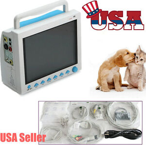 Portable 12 Lcd Vet Veterinary Icu Vital Signs Patient Monitor 6 Parameters Fda