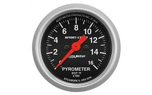 Auto Meter 3344 Sport Comp Stepper Moter 2 1 16 Pyrometer 0 1600 Degree Gauge