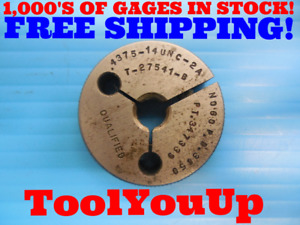 7 16 14 Unc 2a Thread Ring Gage 4375 No Go Only P d 3850 Inspection Quality