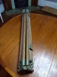 Wild Heerbrugg Wood And Brass Tripod 16b