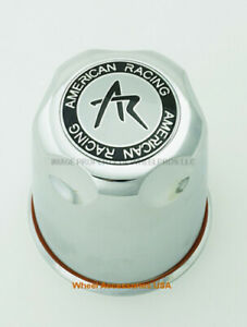 American Racing 3 27 Push Thru Center Cap 1327000s Chrome Finish Ar Logo