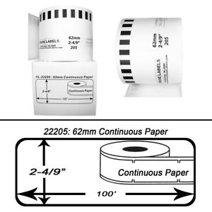 8 Dk 2205 Replacement Rolls Compatible W Brother 2 Reusable Frames
