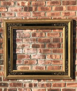 Spectacular 19th C Eastlake American Aesthetic Picture Frame 5 Wide Moldings