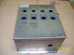 Hoffman Stainless Steel 14x12x6 Enclosure Junction Box A 1412chnfss