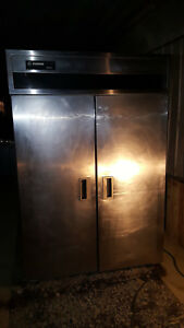 Delfield 2 Door Upright Commercial Feezer Double Reach In Stainless Steel Unit