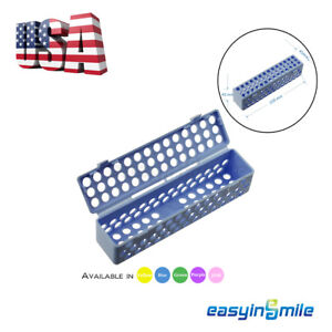 1xdental Instrument Sterilization Container Tray Cassette Autoclave Easyinsmile