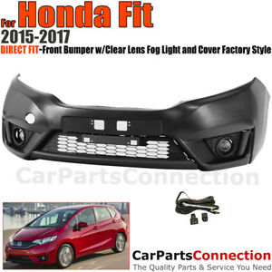 Front Bumper 15 17 For Honda Fit Gk5 Factory Style Fascia Kit Fog Lights Harness