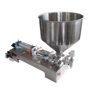 110v Liquid paste Filling Machine 50 500ml With Hopper For Cream Shampoo Sauce