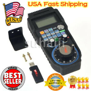 Whb04b Cnc Mach3 Wireless Electronic Handwheel 4 axis Manual Controller Usb Hand