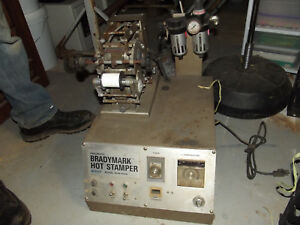 Brady Bradymark Hot Stamper Bhm 402a Does Not Include Foot Pedal