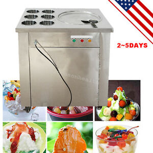Commercial Fried Ice Cream Machine Ice Crean Roll Making Machine usa Fast